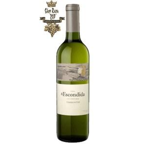 Vang Trắng Argentina Finca La Escondida Reserve Torrontes với hương hoa và citric đặc trưng. Rượu sở hữu hương vị tròn đầy