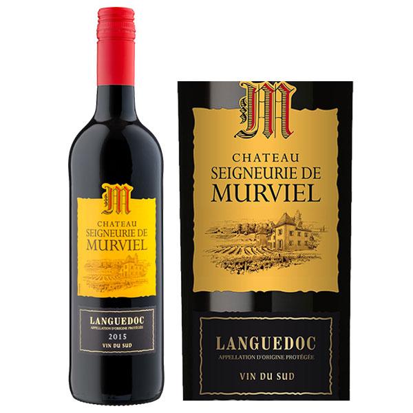 Rượu Vang Đỏ Pháp Chateau Seigneurie De Murviel có màu đỏ sâu. Hương vị của quả mọng đỏ, mận cùng một gợi ý cay nhẹ