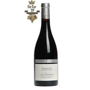 Rượu Vang Đỏ Ermitage 'Les Dionnières' Ferraton Père & Fils có mầu đỏ ruby sáng đậm. Hương thơm phức tạp của hoa tím, trái cây