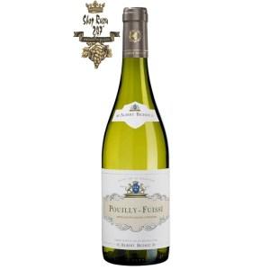 Pouilly Fuisse Chardonnay Albert Bichot có mầu vàng đẹp mắt. Hương thơm của trái cây trắng và gia vị cùng gợi ý của vani.