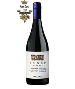 Rượu Vang Chile Emiliana Adobe Pinot Noir có mầu tím với hương thơm của quả mọng, vani, hoa. Vòm miệng với một kết cấu mượt mà