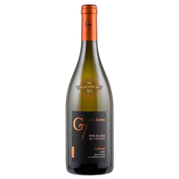 Rượu Vang Chile G7 Gran Reserva Chardonnay