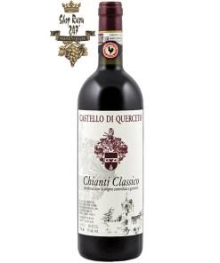 Rượu Vang Đỏ Castello di Querceto Chianti Classico có mầu đỏ ruby rực rỡ. Hương vị trái cây cân bằng với các ghi chú của thảo dược. Tannin mịn màng nhẹ nhàng với kết cấu mềm mại và thanh lịch tạo nên một dư vị hoàn hảo tới cuối bữa tiệc