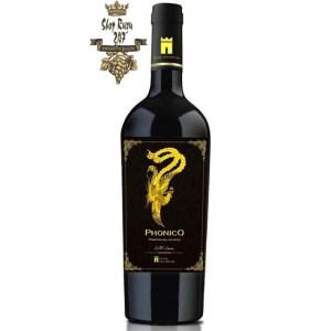 Rượu Vang Ý Đỏ Phonico Primitivo Del Salento có mầu đỏ ruby thanh lịch. Hương thơm phức hợp và sâu lắng của những trái cây