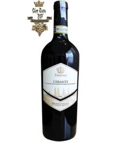 Rượu Vang Đỏ Treggiaia Chianti 2016 có mầu đỏ ruby ánh tím. Hương thơm nổi bật của mứt và cá ngừ đại dương.