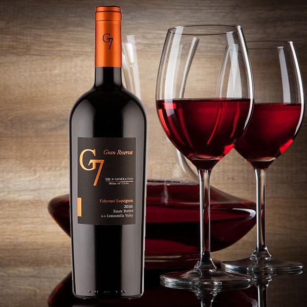 Ảnh phối cảnh sản phẩm rượu vang G7 Gran Reserva Cabernet Sauvignon từ nhà sản xuất