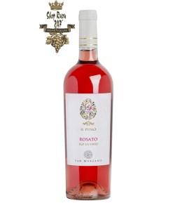 Rượu Vang Ý IL Pumo Rosato Negroamro có mầu đỏ hồng ngọc rực rỡ. Hương thơm mãnh liệt và dai dẳng của các loại quả anh đào, hoa hồng và quả lựu