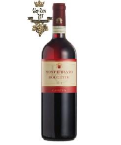 Rượu Vang Đỏ Monferrato Dolcetto có mầu vàng đỏ đậm ánh tím. Hương thơm phức tạp tinh tế của trái cây chín đỏ