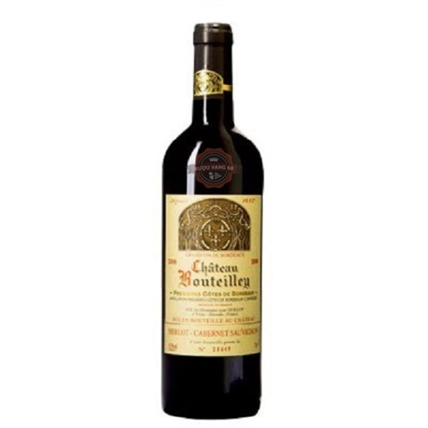 Rượu vang Pháp Château Bouteilley Premieres Cotes de Bordeaux 37.5 cL