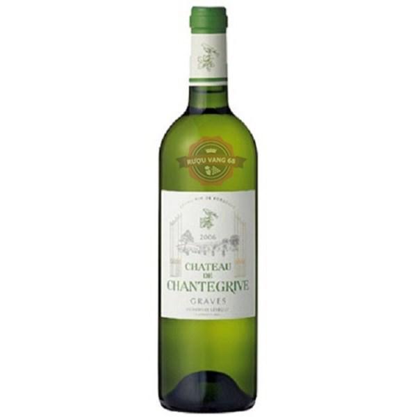 Rượu vang Pháp Château de Chantegrive Graves white