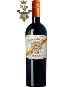 Rượu Vang Đỏ Baby Barbera Dasti có mầu đỏ ruby đẹp mắt. Hương thơm tươi mát của rừng cây xanh cùng hương vị hấp dẫn nơi vòm miệng