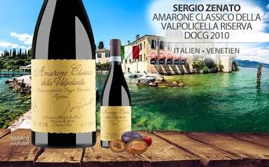 Rượu Vang đỏ Zenato Amarone Della Valpolicella Classico DOCG bên phối cảnh bờ biển