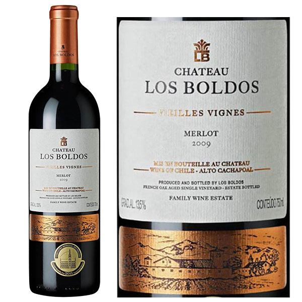 Rượu vang Chile Château Los Boldos Vielles Vignes Merlot cho thấy sự thanh lịch và tròn trịa của tannin gói gọn trong sự đậm đà và mạnh mẽ