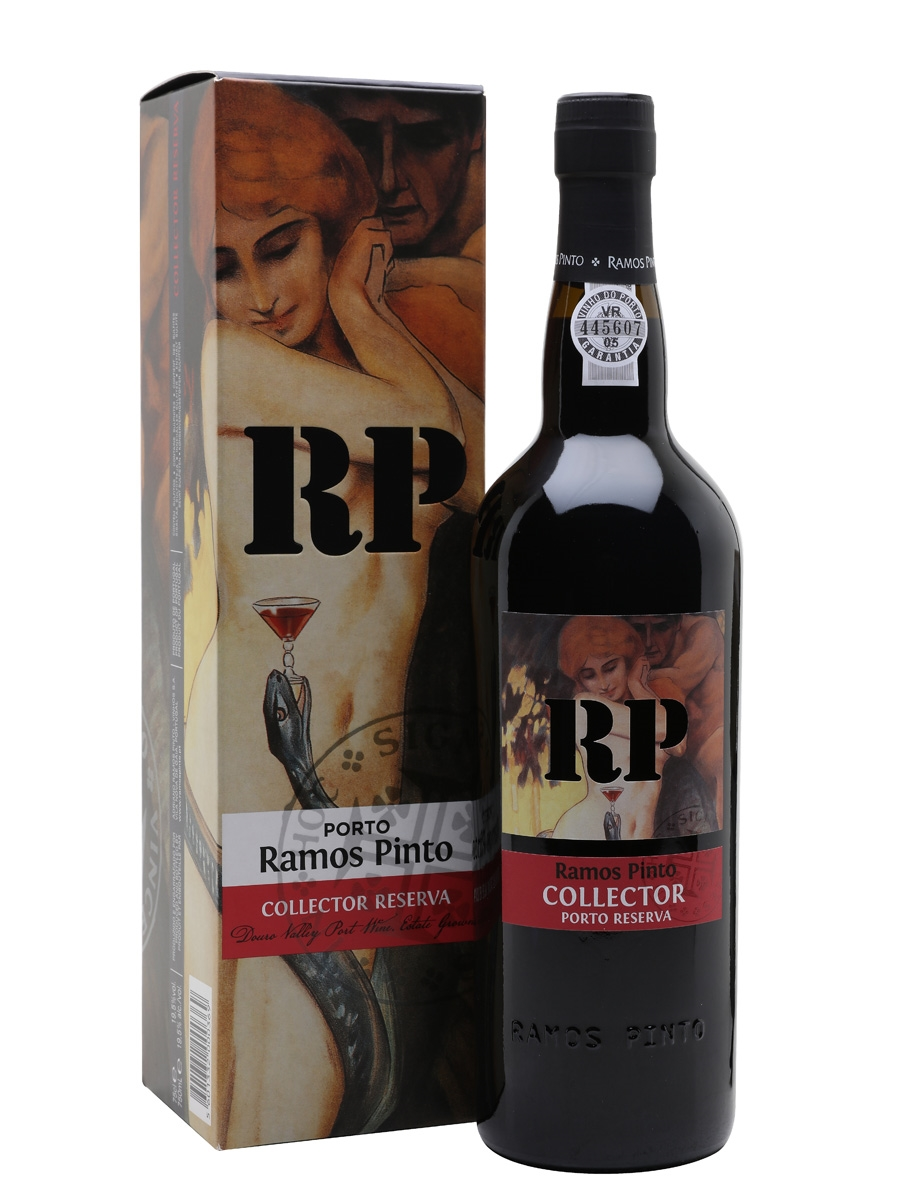 Vang Bồ Đào Nha Ramos Pinto Collector Port DOC cho thấy mùi thơm chín vô cùng của mận khô, vả, dâu đen, mâm xôi