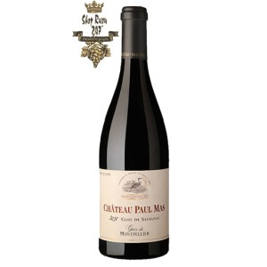 Rượu Vang Pháp Chateau Paul Mas Clos De Savignac có mầu đỏ ngọc ánh tím. Hương thơm phức tạp của các loại café, cacao