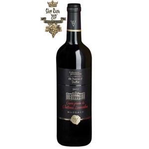Rượu Vang Đỏ Cuvee Privee Du Chateau Lascombes có mầu đỏ hồng đẹp mắt. Hương thơm của quả anh đào, phúc bồn tử