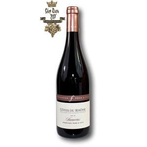 Rượu Vang Đỏ Ferraton Cotes du Rhone Samorens Red có mầu đỏ granet. Hương thơm của quả đỏ chín, mâm xôi, việt quất, quả mọng
