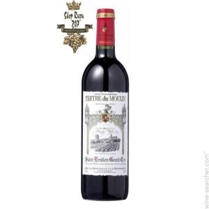Rượu Vang Đỏ Pháp Tertre Du Moulin có màm mận tím tinh tế. Hương vị của quả nho đen,quả sồi, mận chín,da