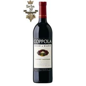 Rượu Vang Mỹ Đỏ Coppola Rosso & Bianco Cabernet Sauvignon có mầu đỏ anh đào. Hương vị phong phú, ngon ngọt