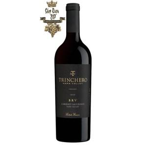 Rượu Vang Đỏ Mỹ Trinchero Brv Cabernet Sauvignon có mầu đỏ đậm sâu. Hương thơm nổi bật của quả mận đen, cam thảo