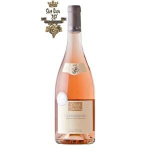 Rượu vang Pháp Clos Teddi Patrimonio Rose 2019 đầy đủ vị trái cây đỏ, cân bằng tính axit, đây là một phong cách phong phú