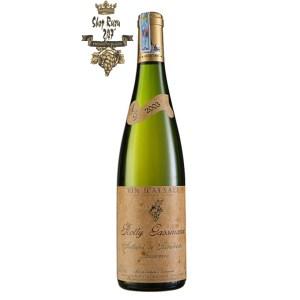 Rượu Vang Trắng Rolly Gassmann Rot Leibel De Rorschwihr Auxerrois có mầu vàng rơm đậm. Hương thơm nổi bật của táo, mộc qua