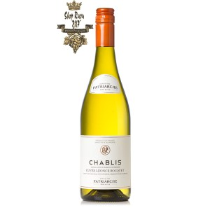 Rượu Vang Trắng Pháp Patriarche Chablis có mầu vàng với phản xạ xanh lục. Hương thơm nhẹ nhàng, tươi mới của cam quýt với hương vị khoáng