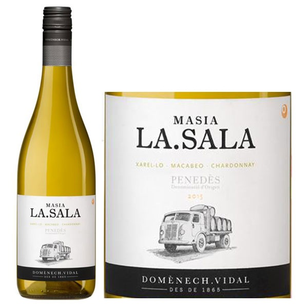 Rượu Vang Trắng Tây Ban Nha Masia La Sala Blanco có mầu vàng nhạt ánh xanh. Hương thơm điển hình của các loại hoa quả