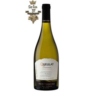 Vang Trắng Ventisquero Queulat Chardonnay có mầu vàng nhạt ánh xanh sáng. Hương thơm của hỗn hợp cam quýt