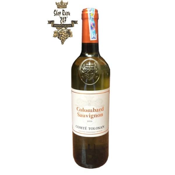 Rượu vang trắng Comte Tolosan Colombard Sauvignon IGP là một chai rượu vang ngọt ngào, vô cùng mềm mượt và dễ uống.