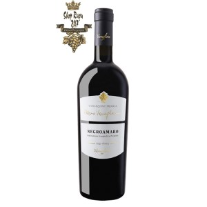 Rượu vang Privata Negroamaro có một vẻ ngoài sang trọng và quý phái. Thân chai thủy tinh đen cao cấp như một viên cẩm thạch với nhãn chai cũng được thiết kế với màu đen