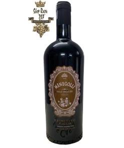 Rượu Vang Đỏ Menegolli Limited Edition Primitivo có màu đỏ ruby tươi sáng. Đây là một loại vang chát có hậu vị ngọt nhẹ