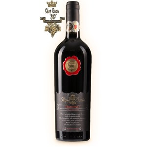 Rượu Vang Ý Ripa Di Sotto Primitivo có màu tím đậm. Hiện lên như một bó hoa rất tươi của anh đào đen