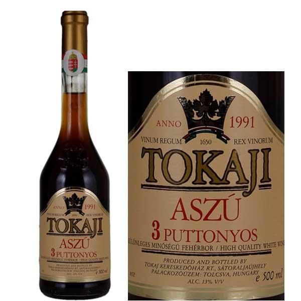 Rượu Vang Ngọt Hungary Tokaj Aszu 3 Puttonyos có màu vàng tươi đẹp mắt. Được kết hợp từ ba giống nho