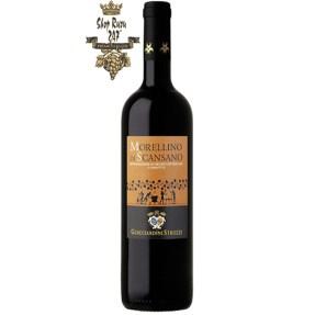 Vang Ý MORELLINO DI SCANSANO có màu đỏ ruby sáng, hương vị đậm đà và mạnh mẽ của quả mâm xôi