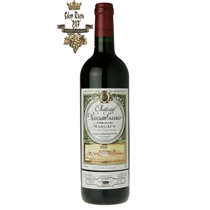 Rượu Vang Đỏ Pháp Chateau Rauzan Gassies Blend được làm từ 4 giống nho Cabernet Sauvignon, Cabernet Franc, Merlot, Petit Verdot