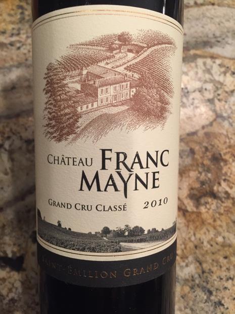 Vang Pháp Château Franc Mayne Saint-Émilion Grand Cru Classé 2012 được kết hợp từ hai giống nho nổi tiếng với tỉ lệ là
