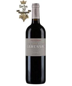 Rượu Vang Château de Camensac La Closerie Haut-Médoc 2015 có màu đỏ đậm ánh tím khi ở trên ly. Rượu mở ra với hương thơm của