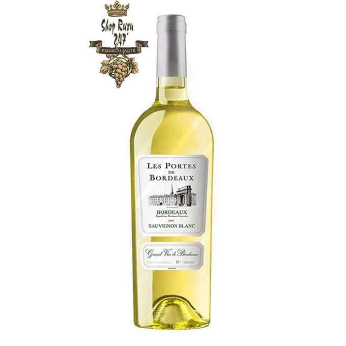 Vang trắng Les Portes de Bordeaux Sauvignon Blanc