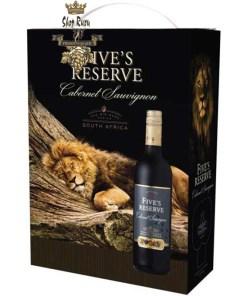 Rượu Vang Bịch Fives Reserve Cabernet Sauvignon South Africa 3L
