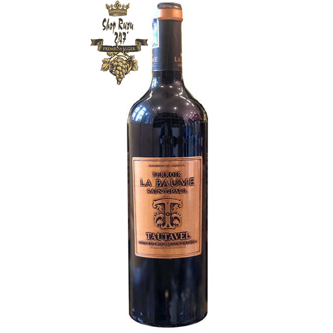 Rượu Vang Pháp Terroir La Baume Saint-Paul Tautavel là một loại rượu vang đỏ toàn thân với hương thơm của trái cây đỏ, rượu balsamic