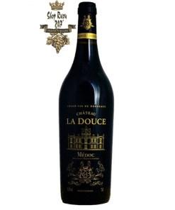 Vang Pháp Château la Douce Médoc – Hảo Hạng được làm từ 100% giống nho Merlot được trồng tại vườn nho rộng 2 ha từ năm 2002
