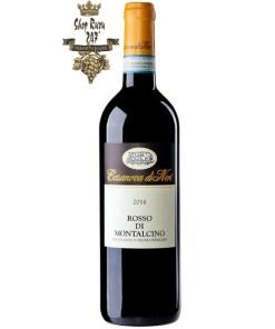 Rượu Vang Casanova di Neri Rosso Di Montalcino DOC có màu đỏ sậm sống động. Hương thơm của quả mọng đỏ, gia vị và hoa
