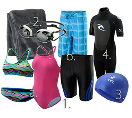 swimming gears, swimming tips