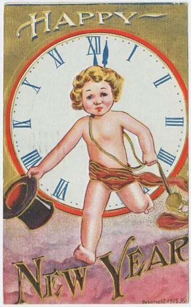 Старые новогодние открытки 12
