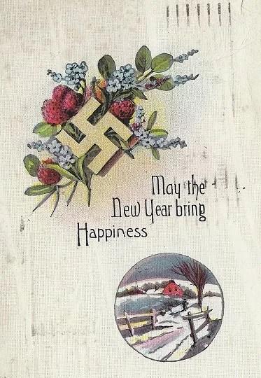 Старые новогодние открытки 34
