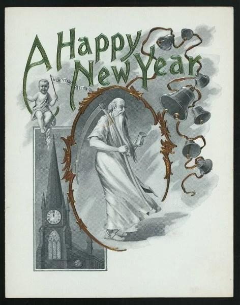 Старые новогодние открытки 9