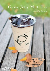 Grass Jelly Milk Tea KOI Café Singapore