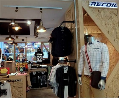 Recoil menswear clothing store at Bugis Junction in Singapore.