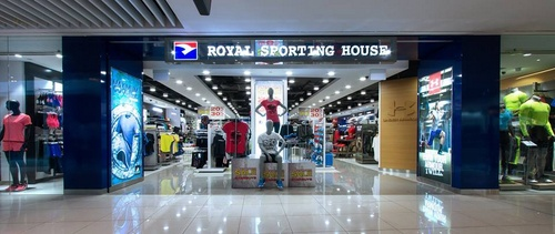 Royal Sporting House shop at Suntec City mall in Singapore.